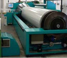 Cone sectional warping machine